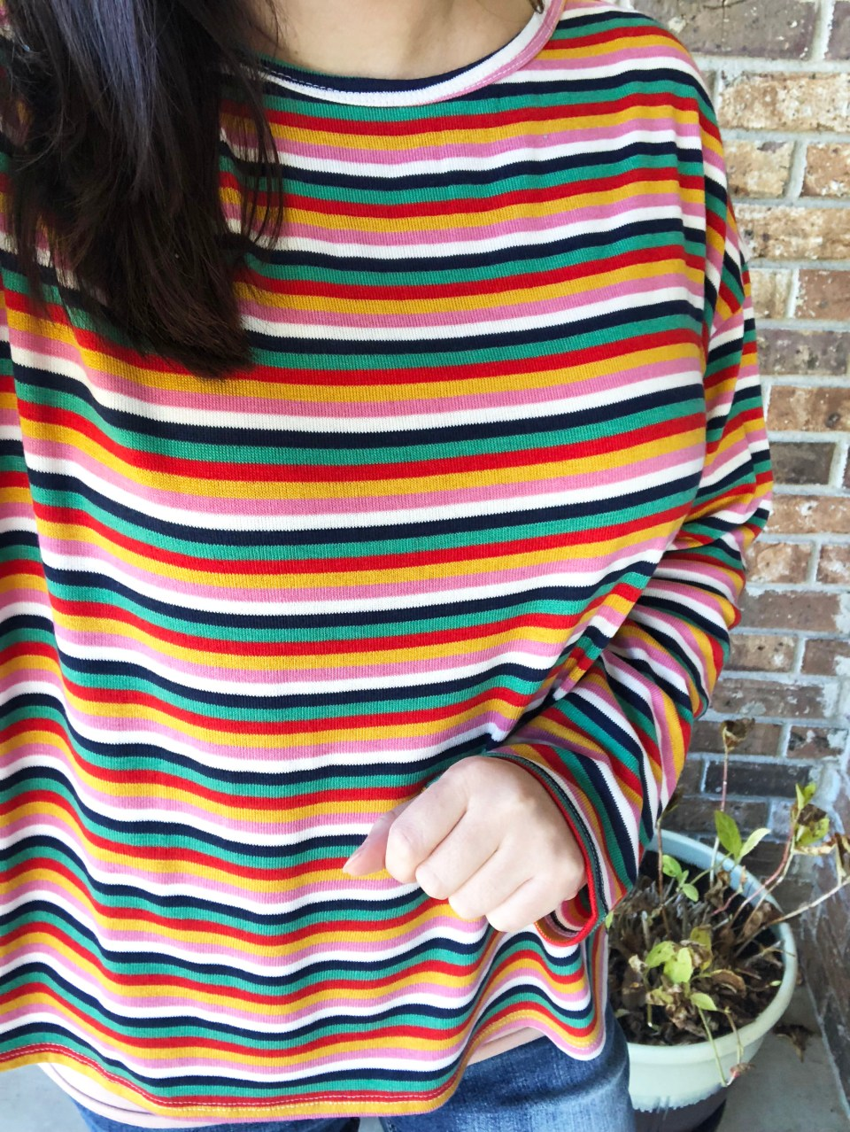 Multicolor Oversized Striped Top 16