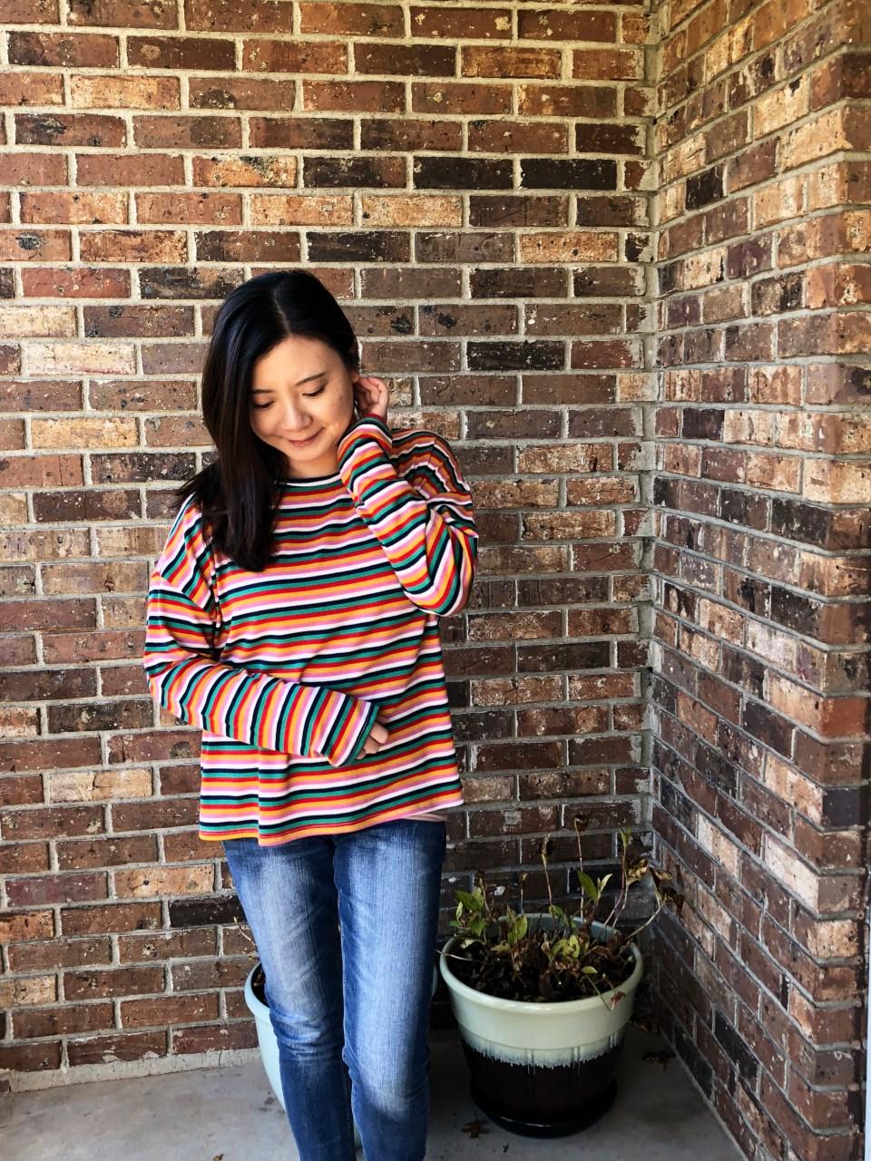 Multicolor Oversized Striped Top 9