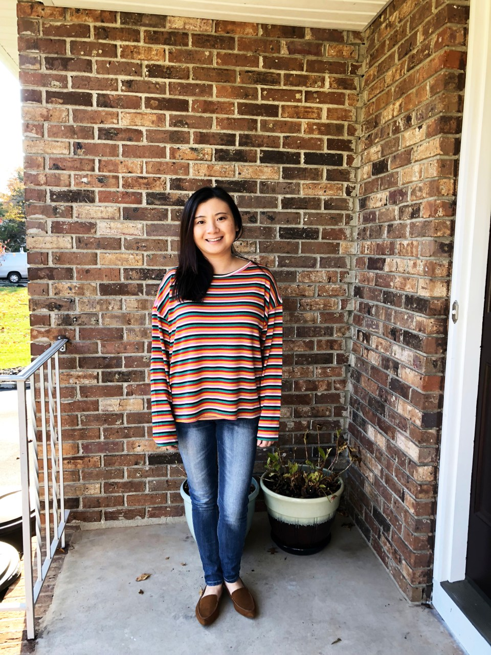 Multicolor Oversized Striped Top