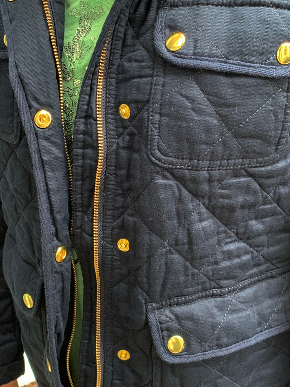 Navy Blue Quilted Jacket 10