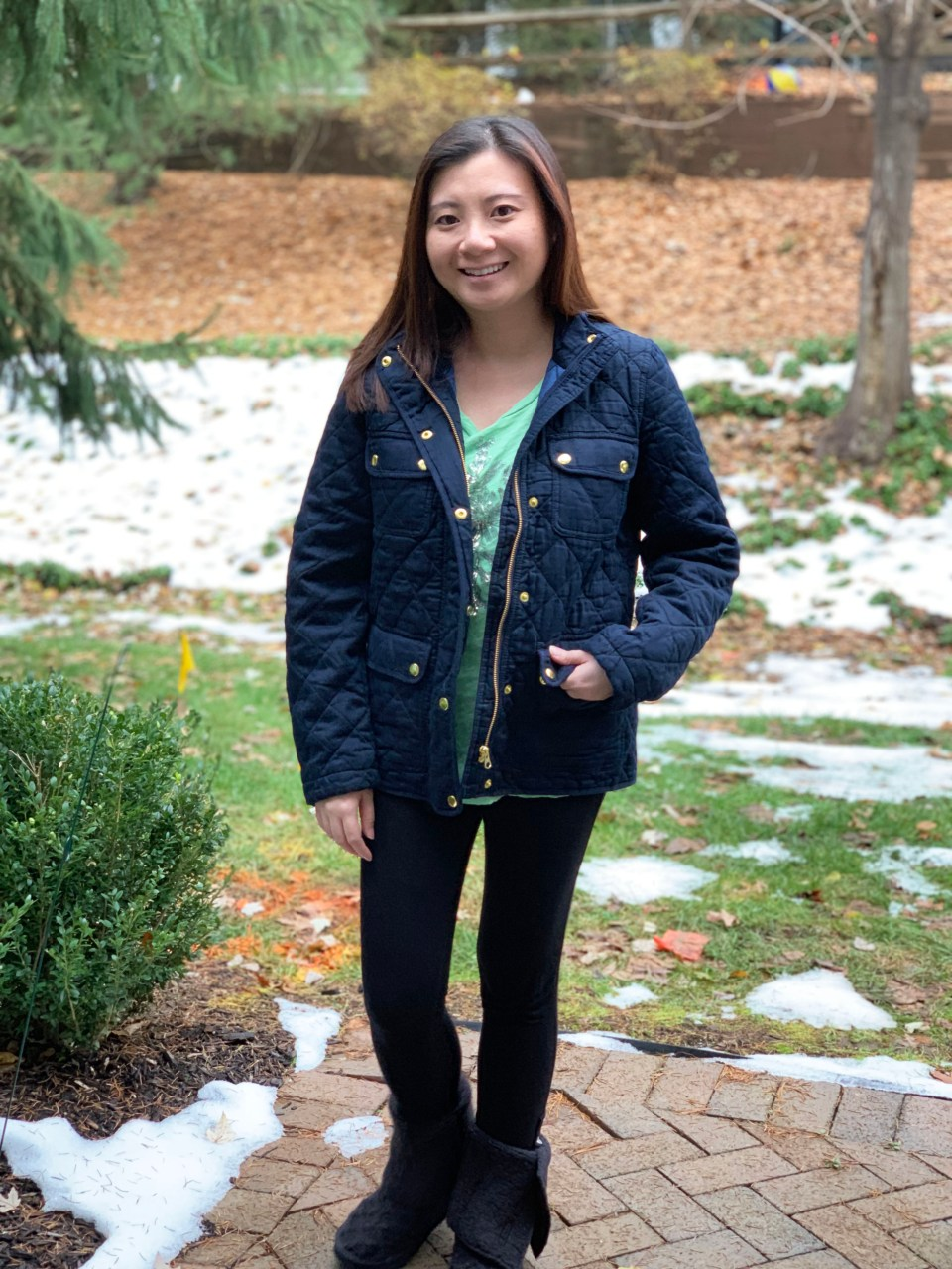 Navy Blue Quilted Jacket 6