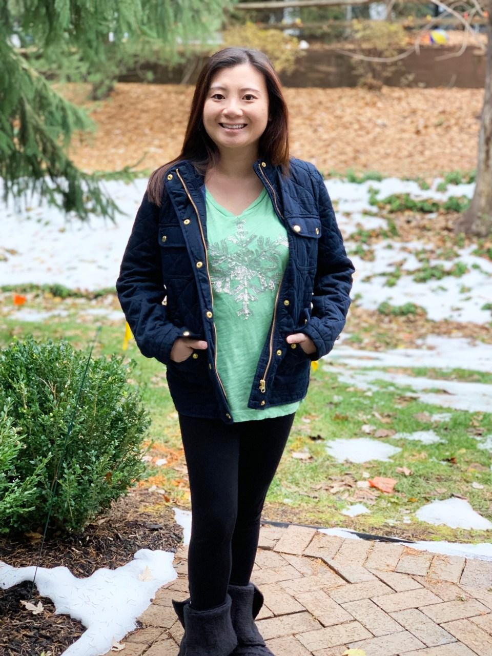Navy Blue Quilted Jacket 8