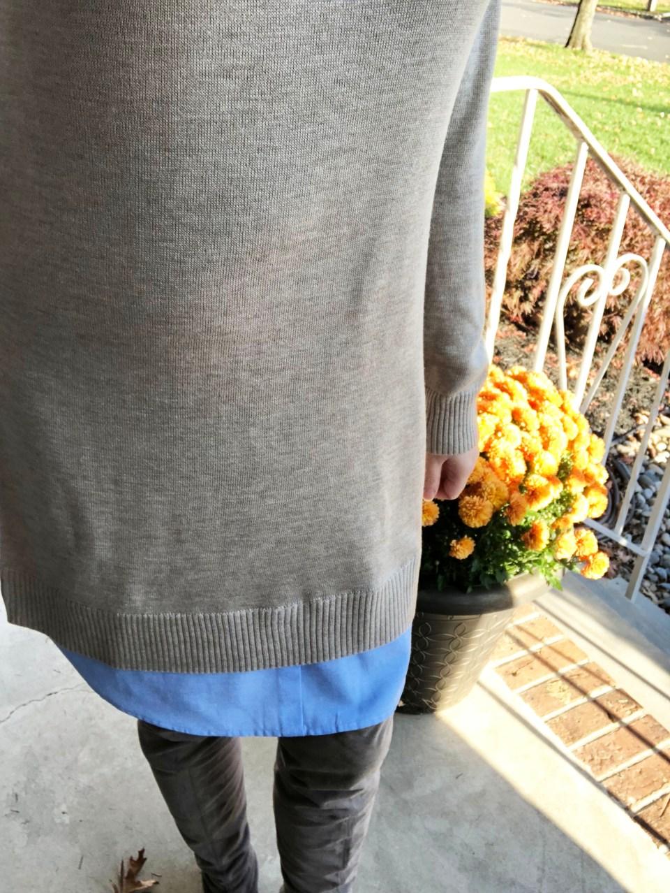 Oxford Blue Shirt Sweater Dress 16