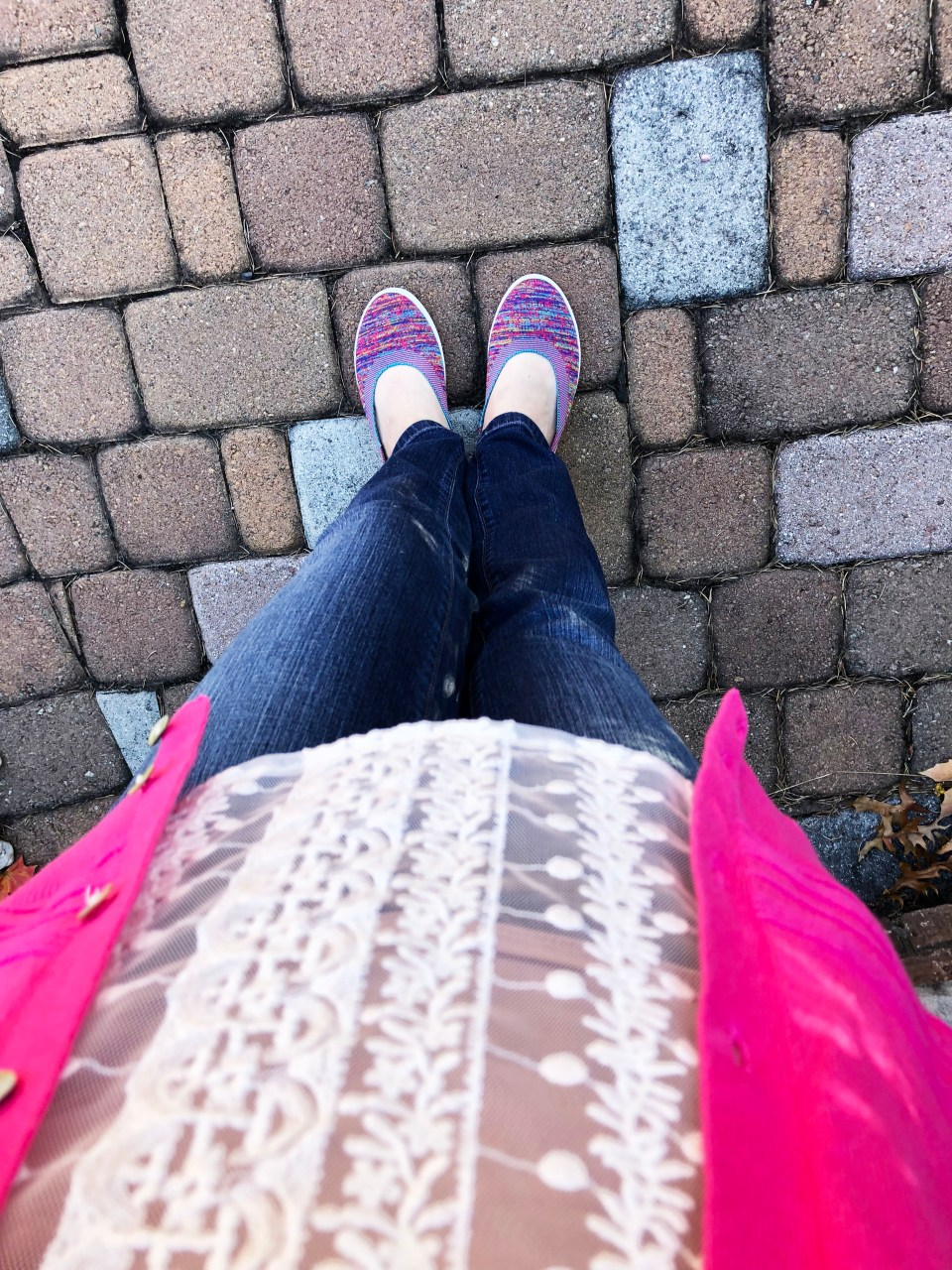 Pink Cardigan + Lace Top 8