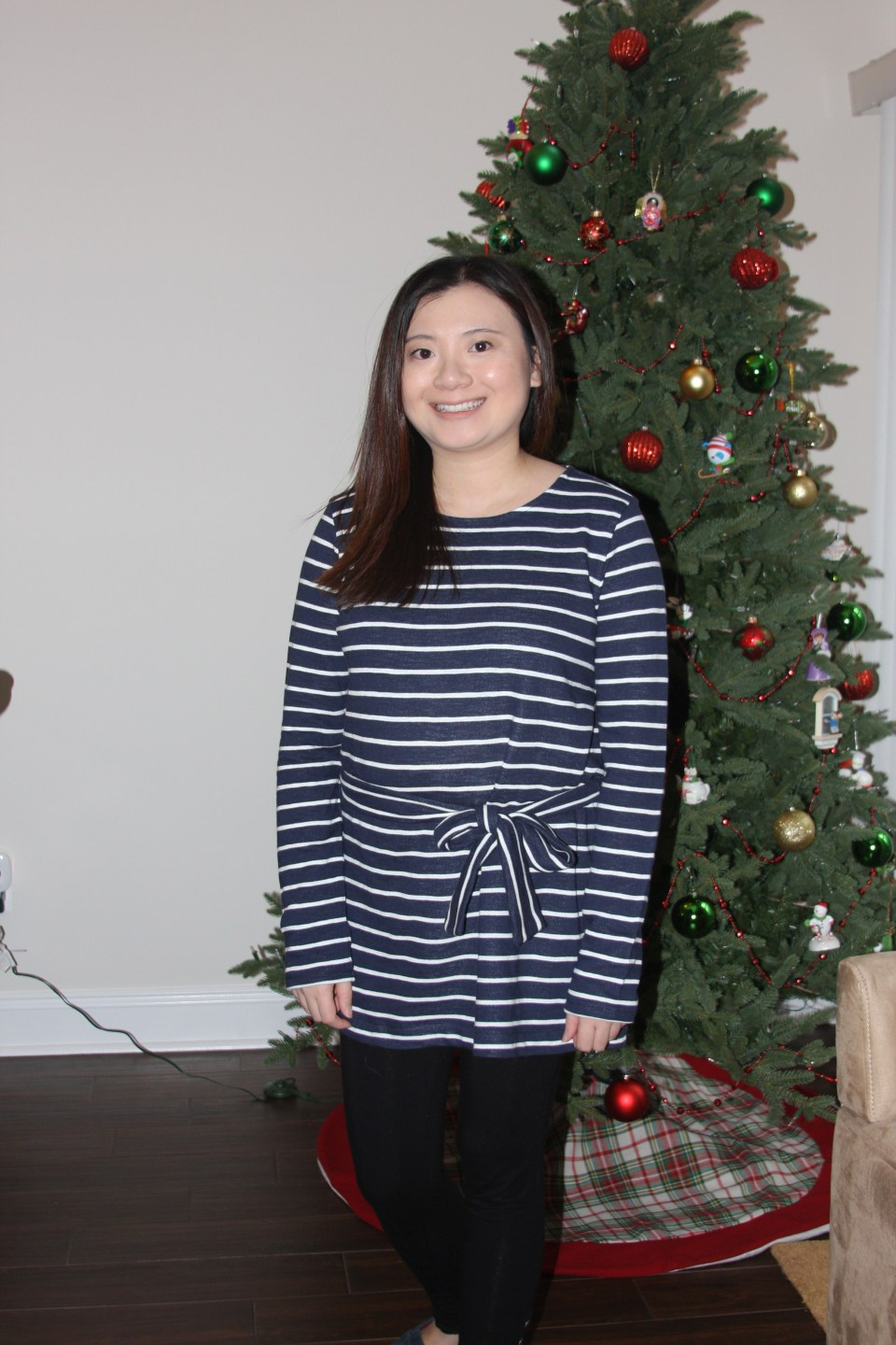 Blue & White Striped Belted Top 11