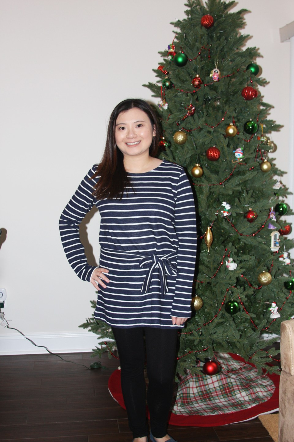 Blue & White Striped Belted Top 7