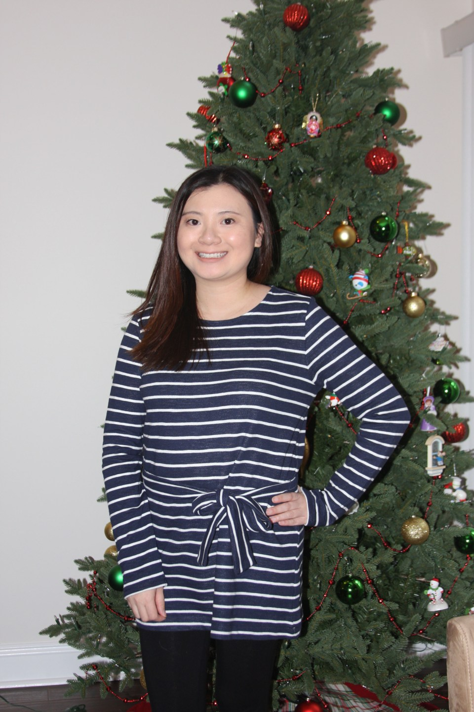 Blue & White Striped Belted Top 8