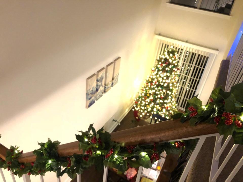 Christmas Garland + Lights 12