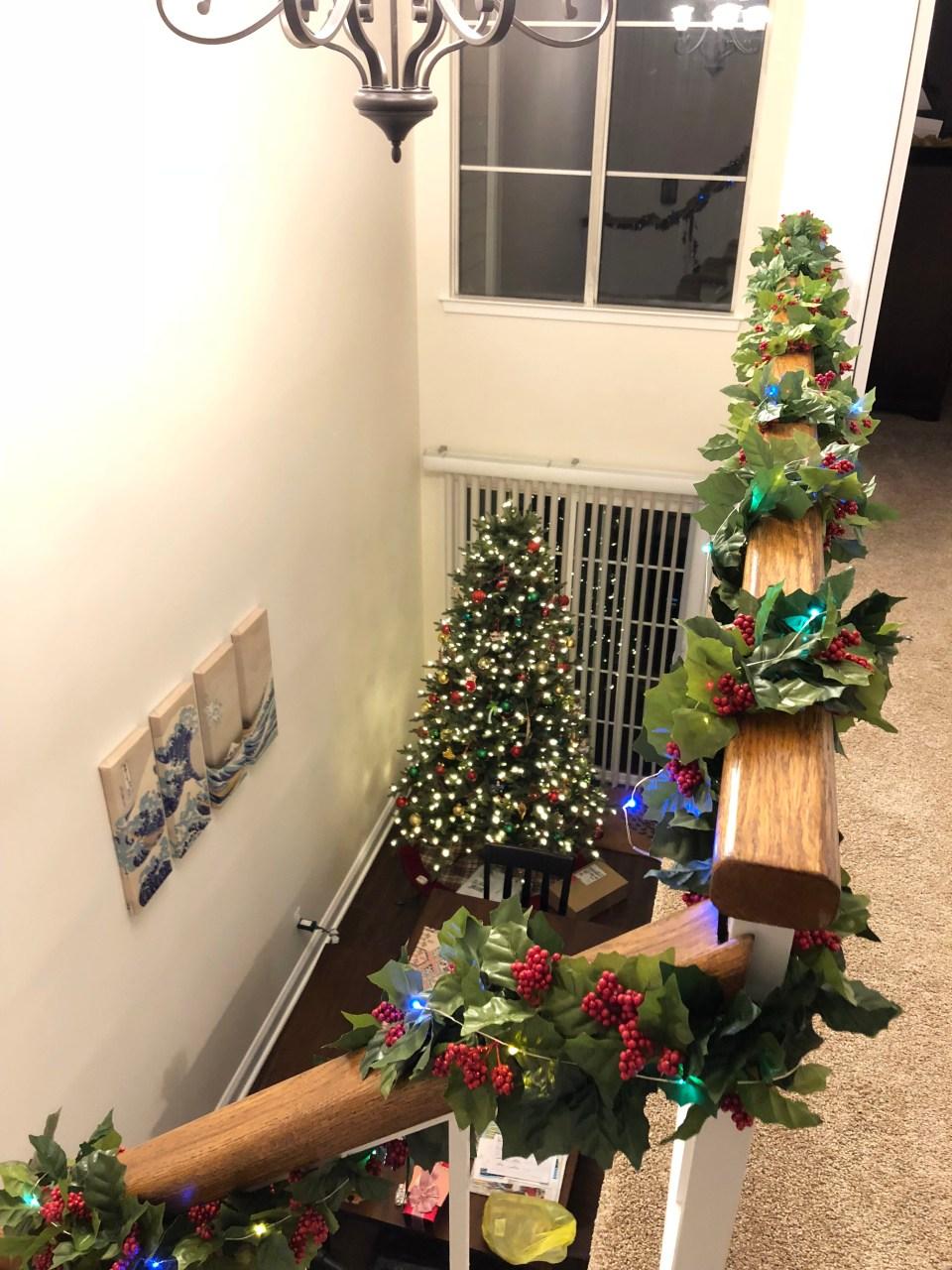 Christmas Garland + Lights 4