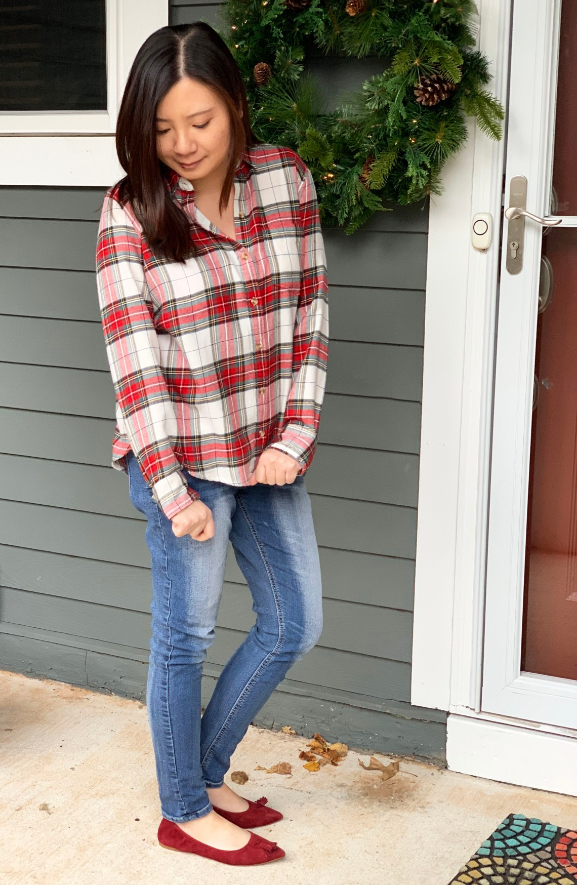 Christmas Plaid Button Down
