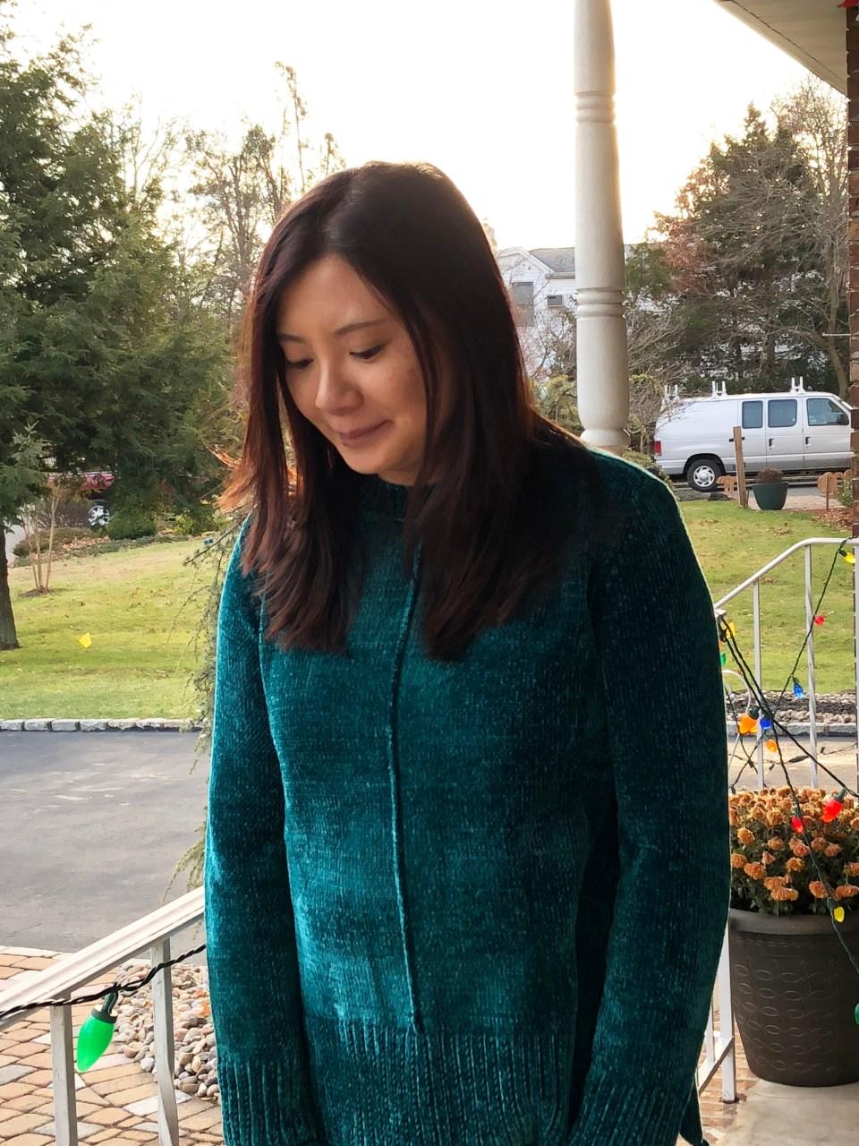 Green Chenille Sweater 10