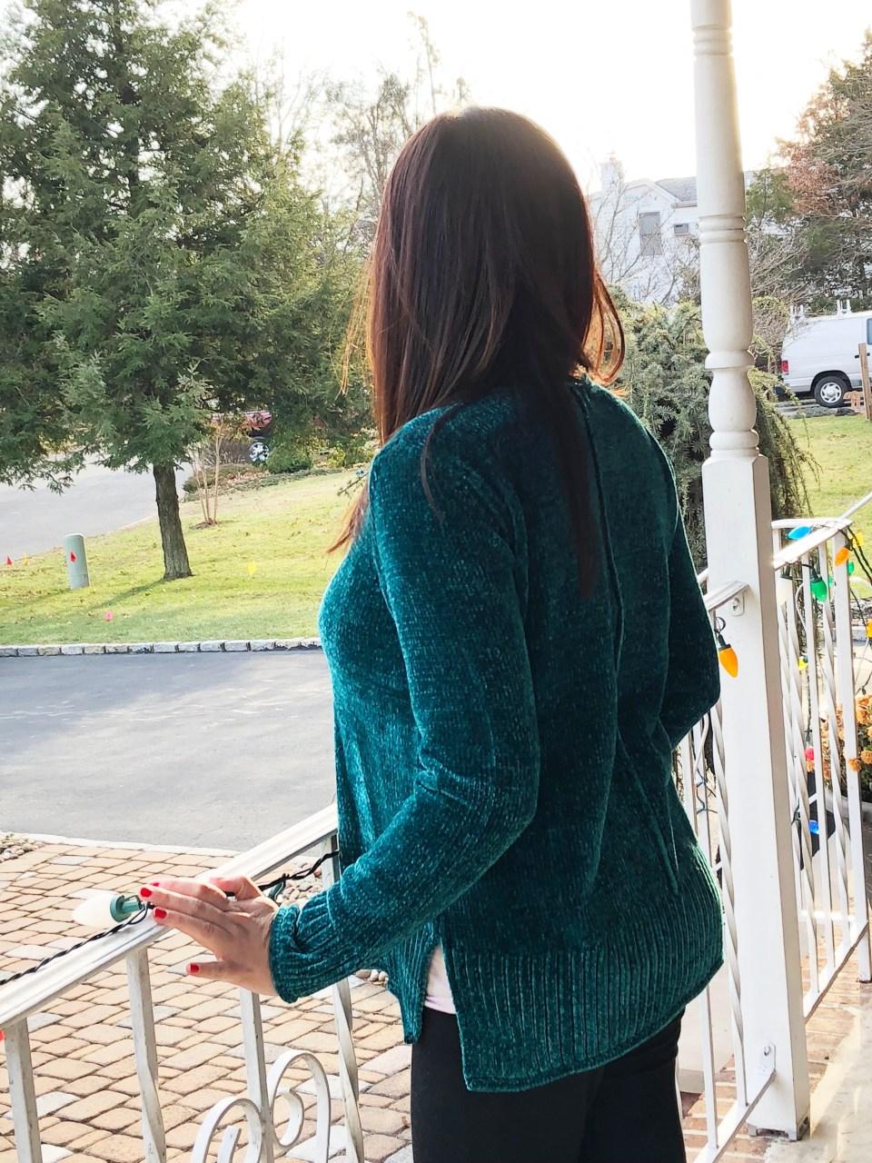 Green Chenille Sweater 4