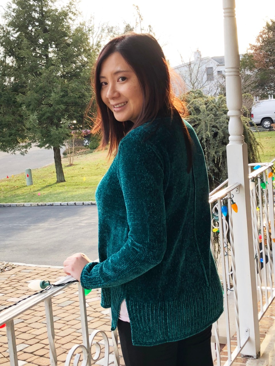 Green Chenille Sweater 5