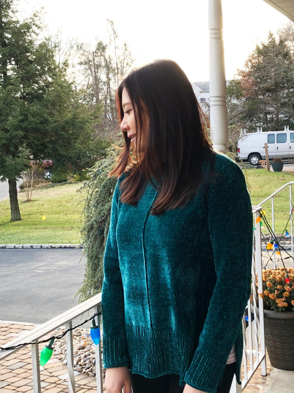 Green Chenille Sweater 8