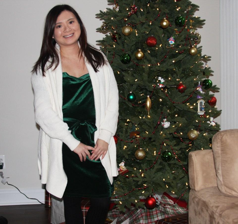 Green Velvet Dress 10