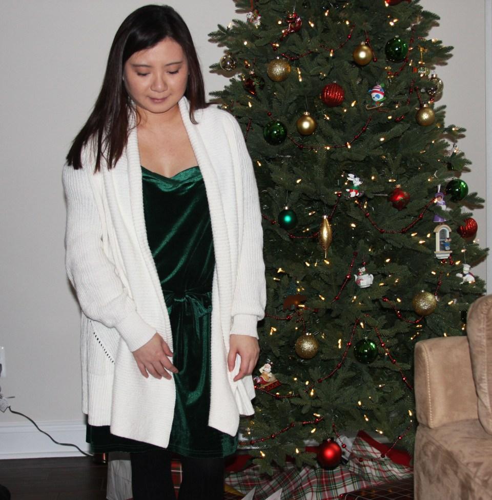 Green Velvet Dress 7