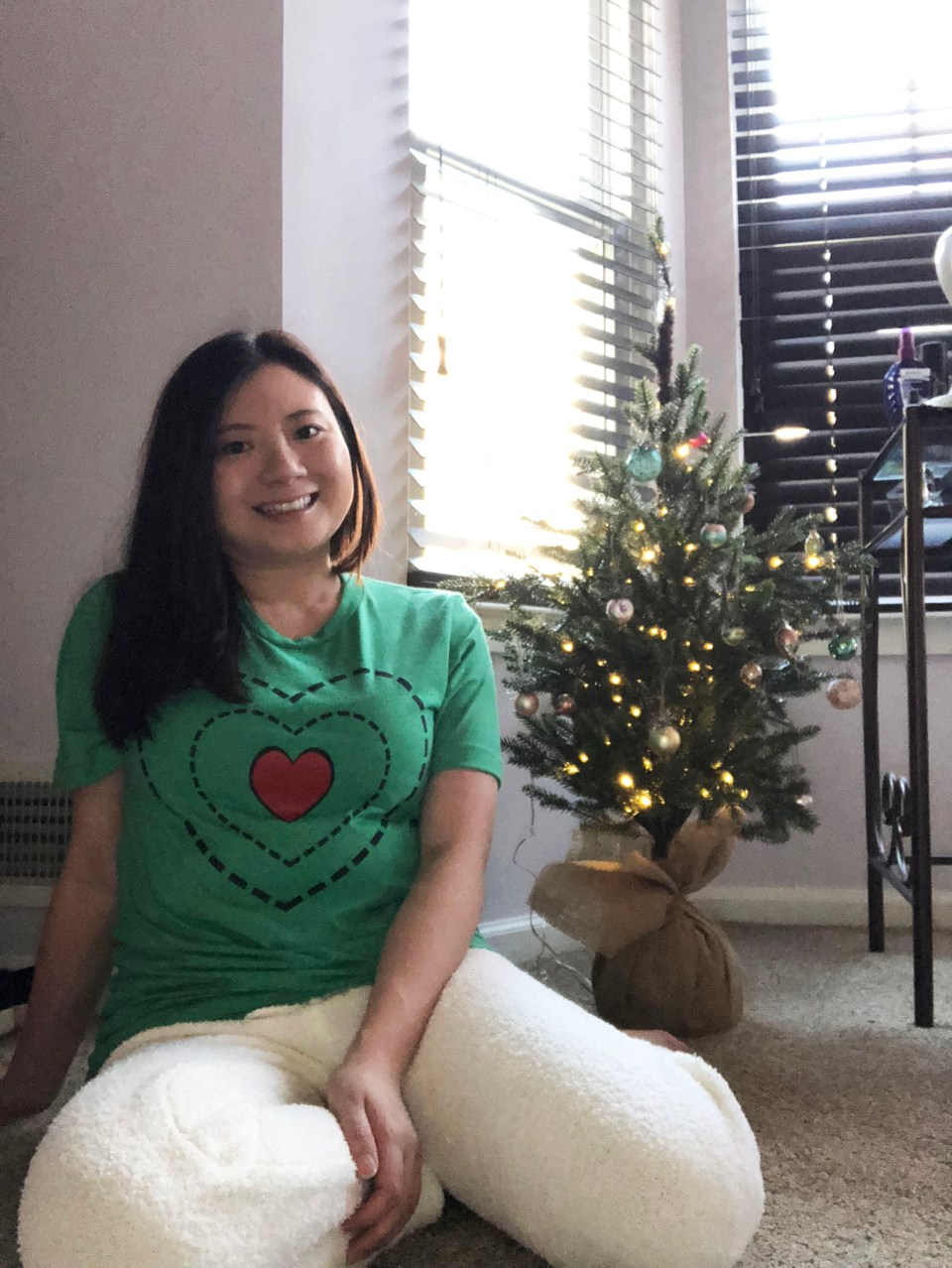 Grinch - Heart Two Sizes Too Small Tee + Teddy Leggings 1