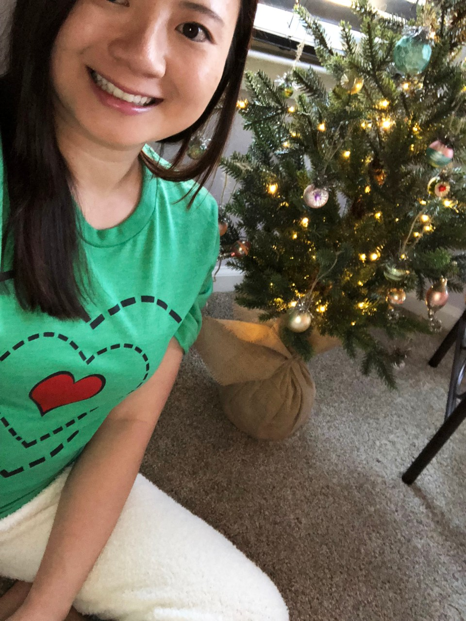 Grinch - Heart Two Sizes Too Small Tee + Teddy Leggings 2