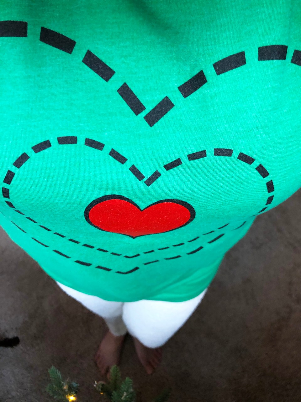 Grinch - Heart Two Sizes Too Small Tee + Teddy Leggings 5