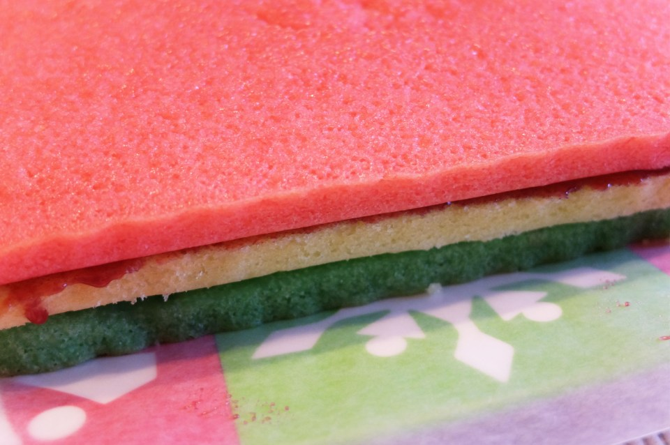 Rainbow Cookie - cake layers