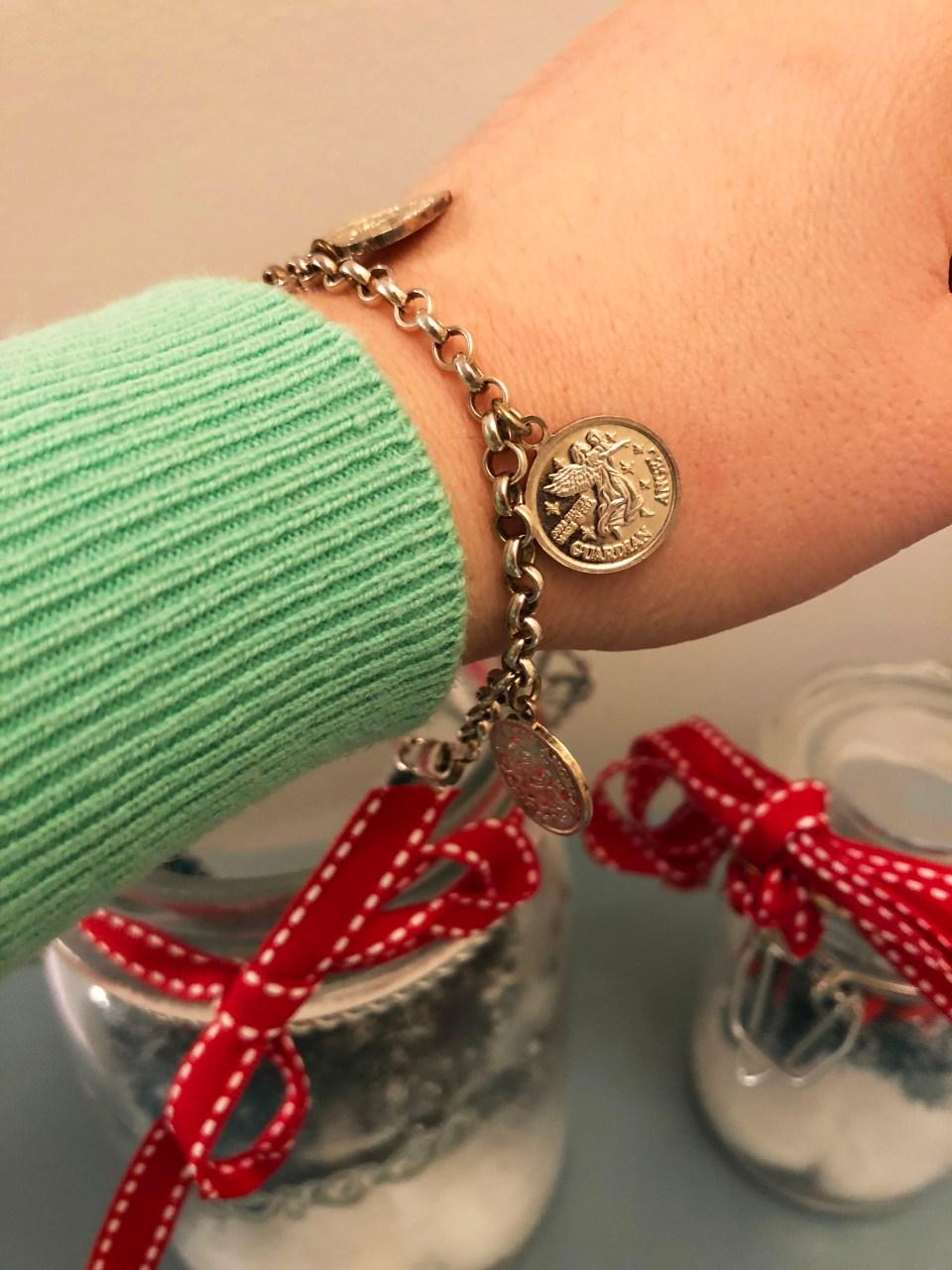 Angel Coin Charm Bracelet 6