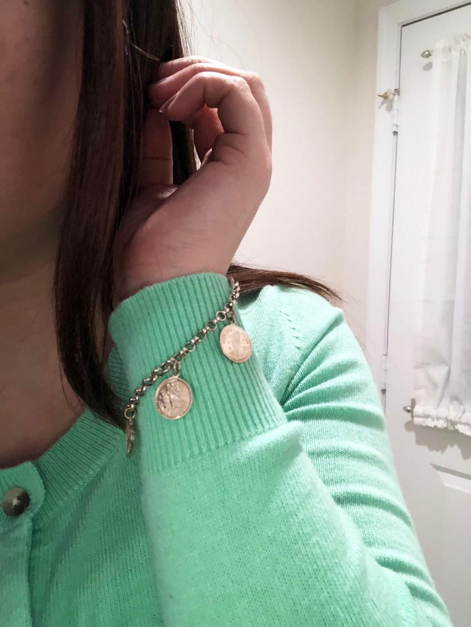 Angel Coin Charm Bracelet 8