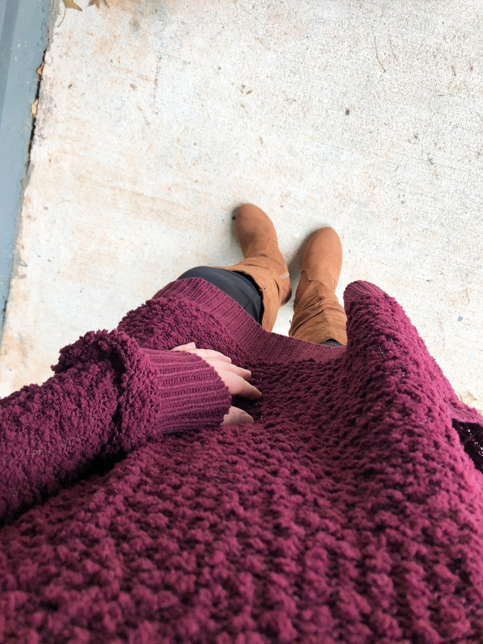 Burgundy Popcorn Sweater 7