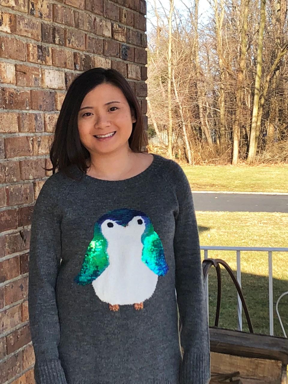 Sequin Penguin Sweater 5