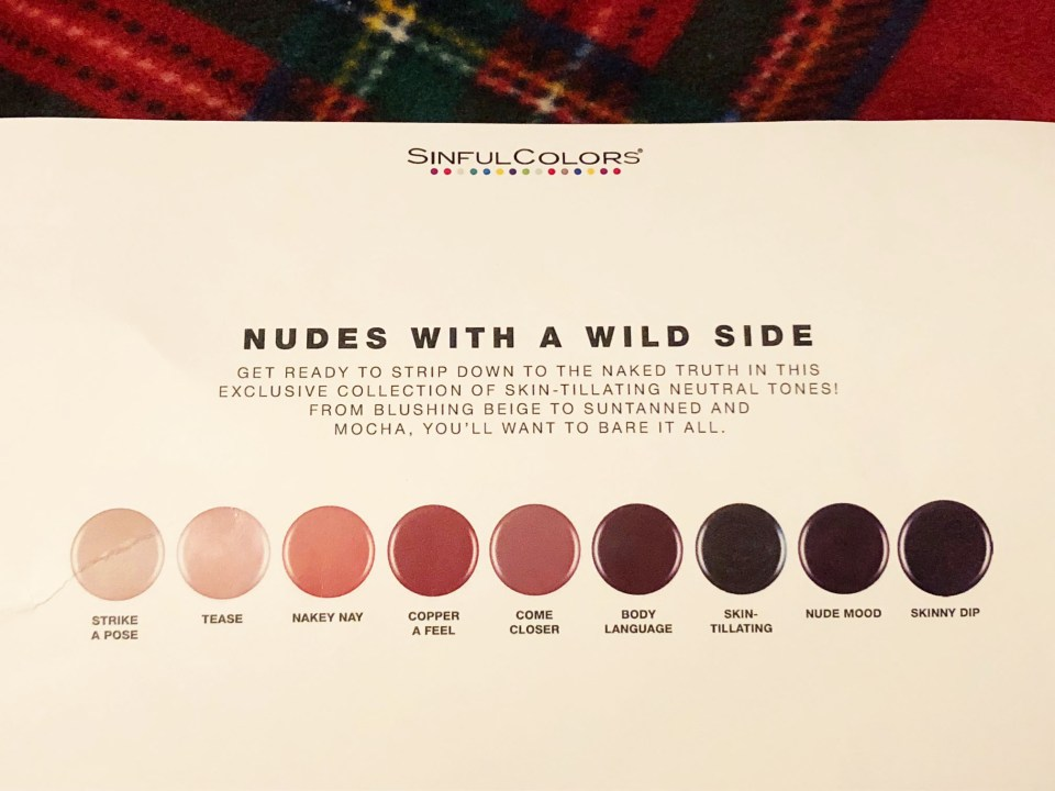 Sinful Colors - Sinful Nudes - shades