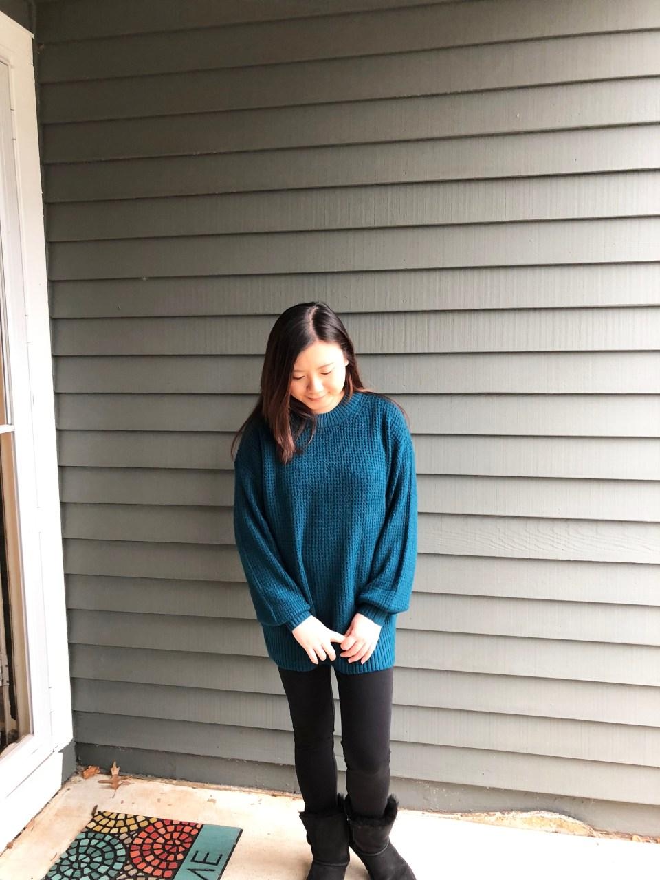 Teal Cloudspun Sweater 5