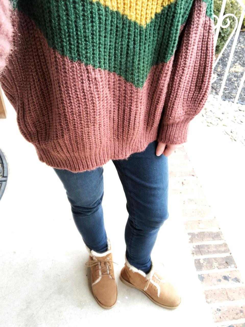 Colorblock Chevron Sweater 11