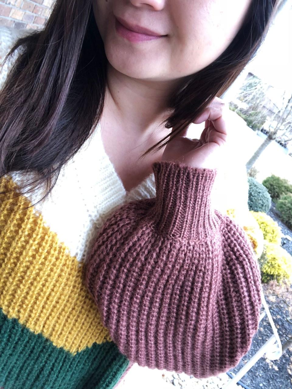 Colorblock Chevron Sweater 12