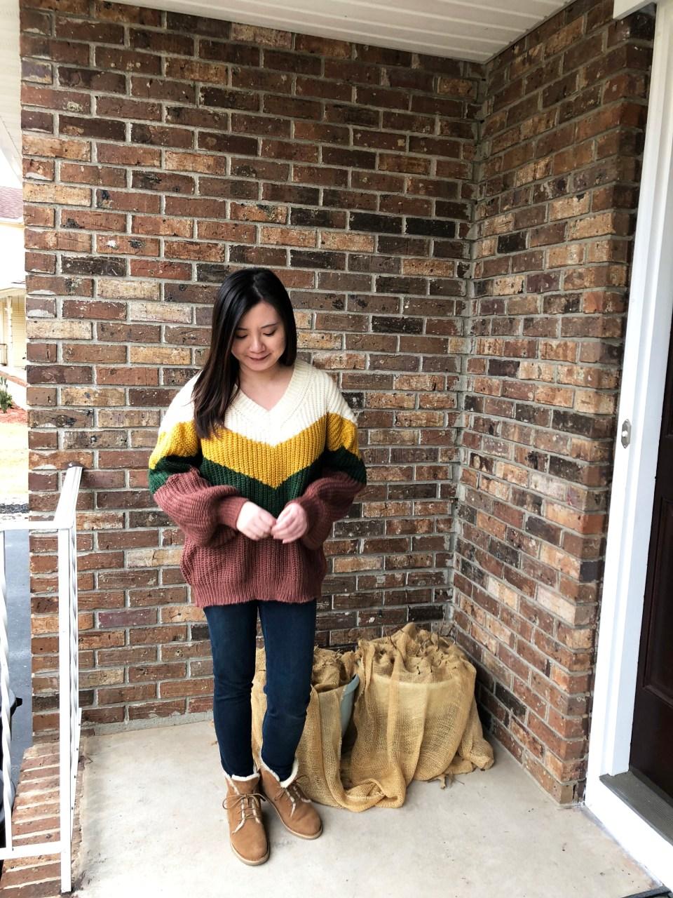 Colorblock Chevron Sweater 5