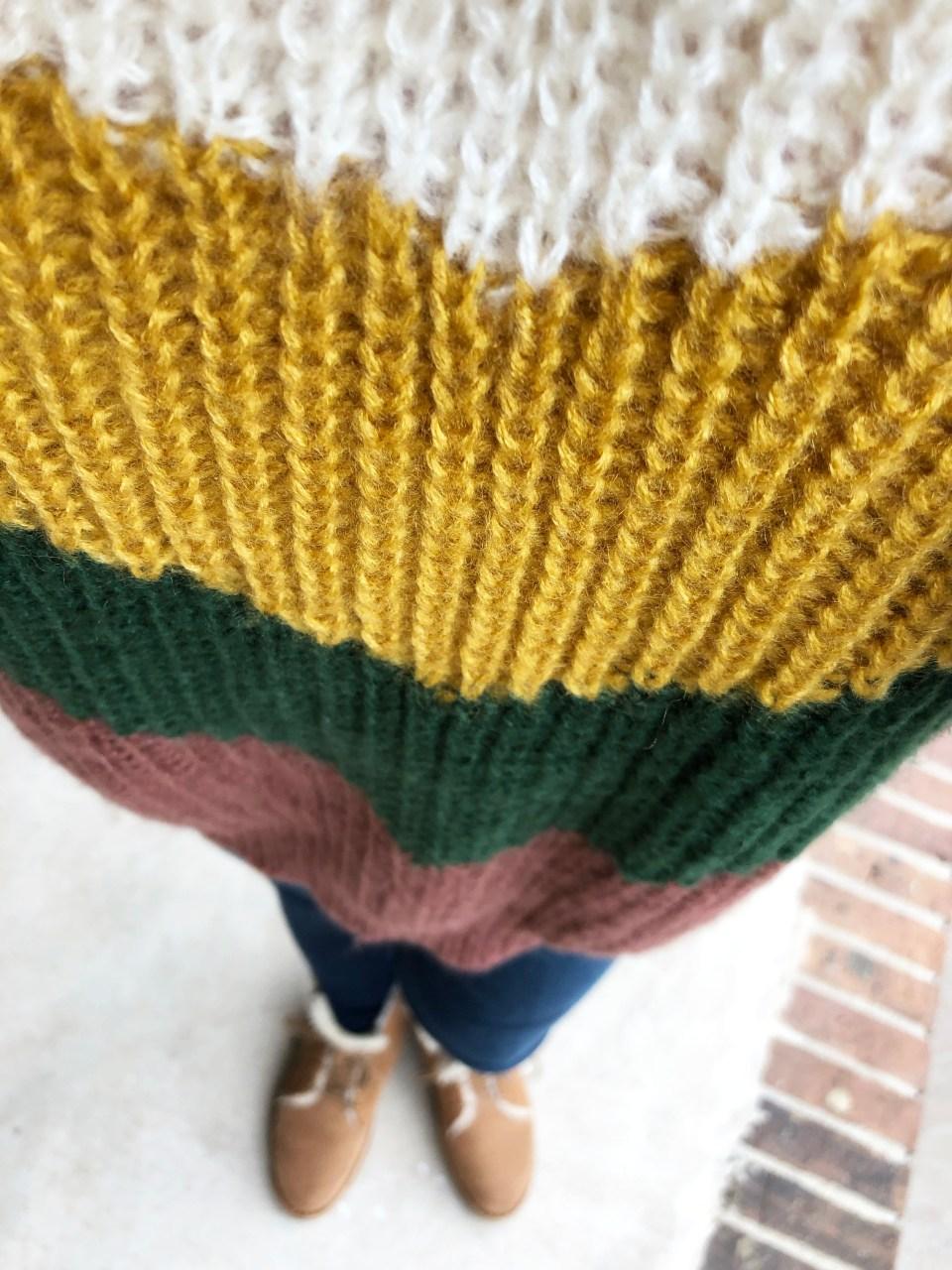 Colorblock Chevron Sweater 9