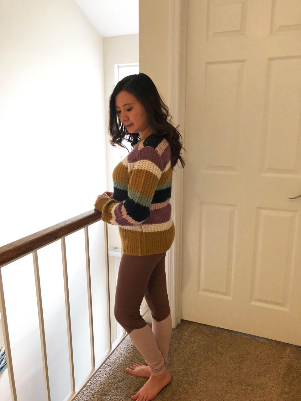 Lofty Puff Sleeve Striped Sweater 3