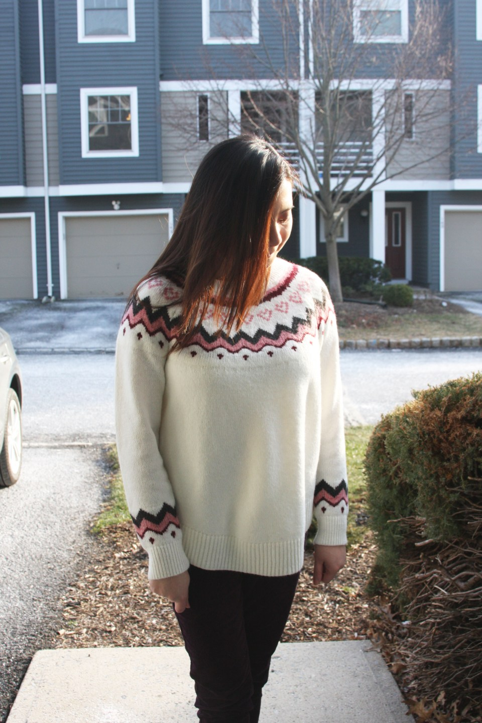 Pink Melange Fairisle Sweater 10