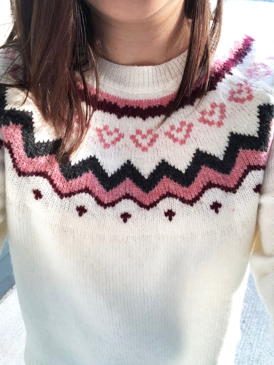 Pink Melange Fairisle Sweater 11
