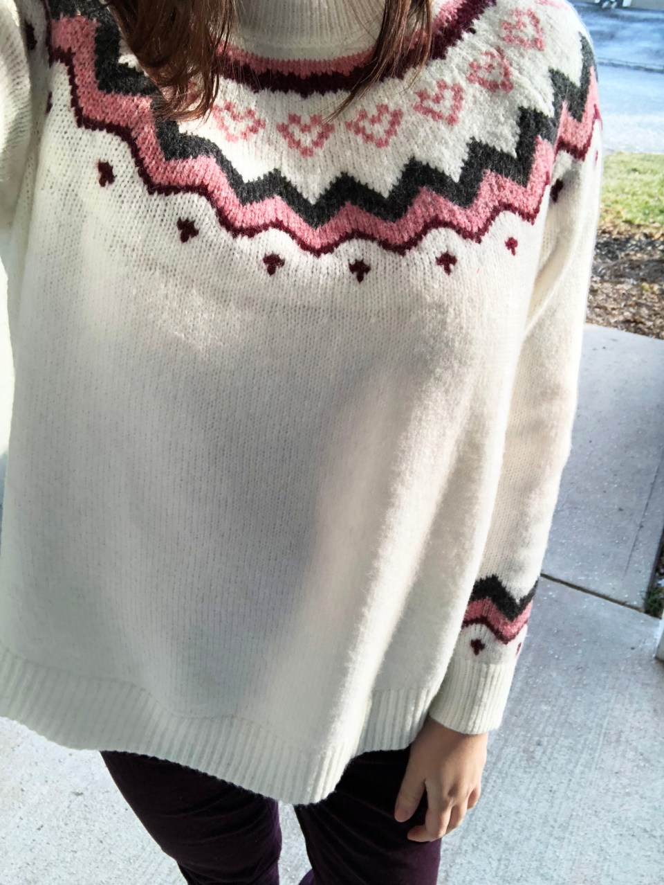 Pink Melange Fairisle Sweater 12