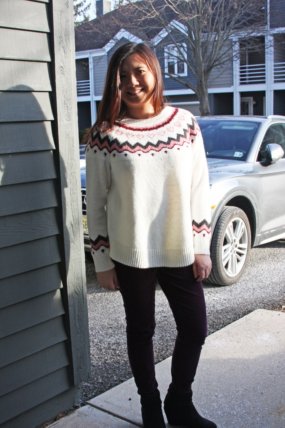 Pink Melange Fairisle Sweater 3
