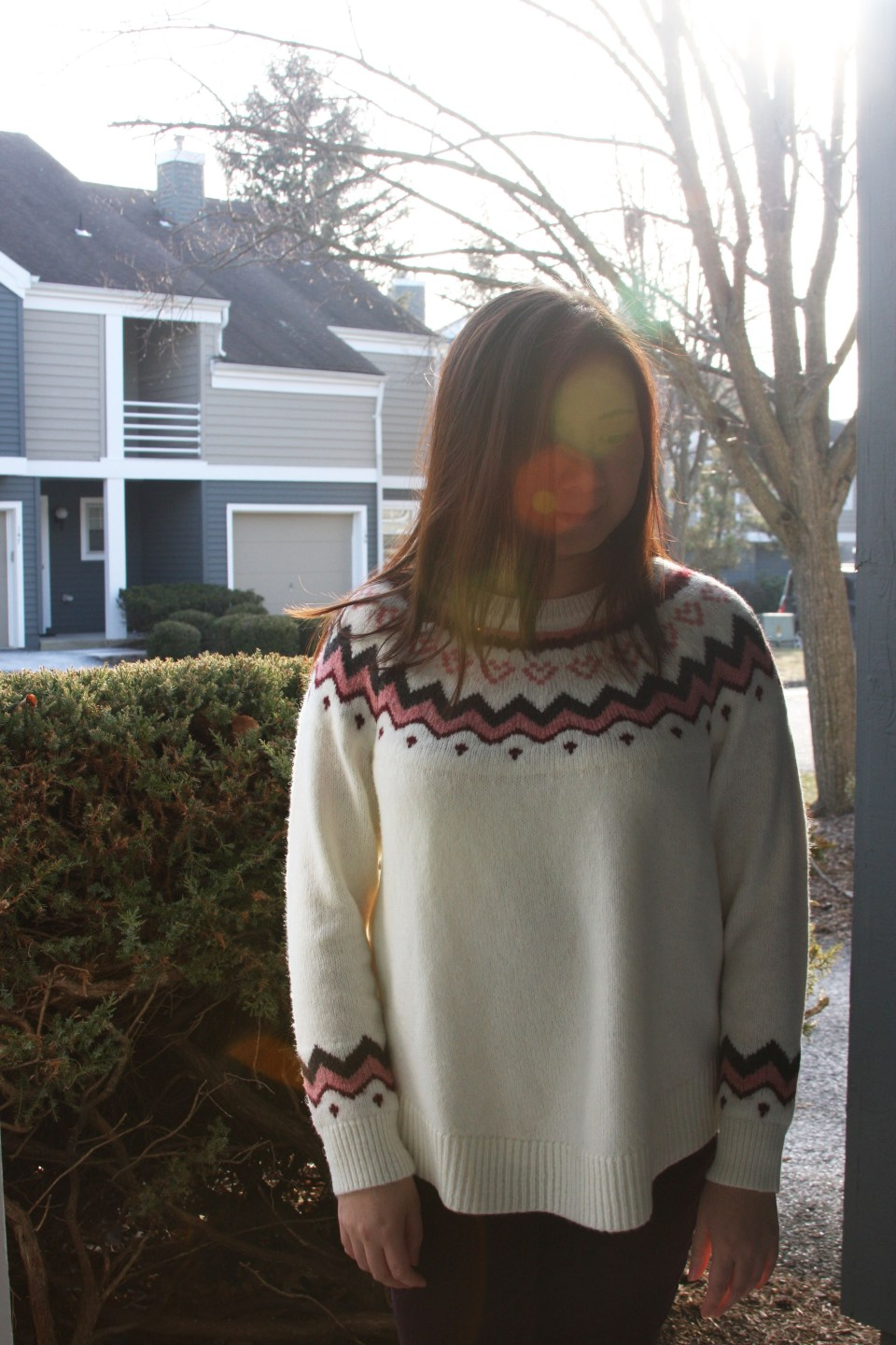 Pink Melange Fairisle Sweater 5