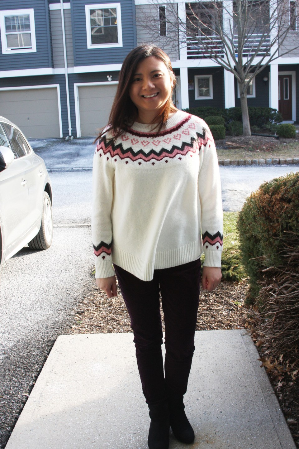 Pink Melange Fairisle Sweater 6