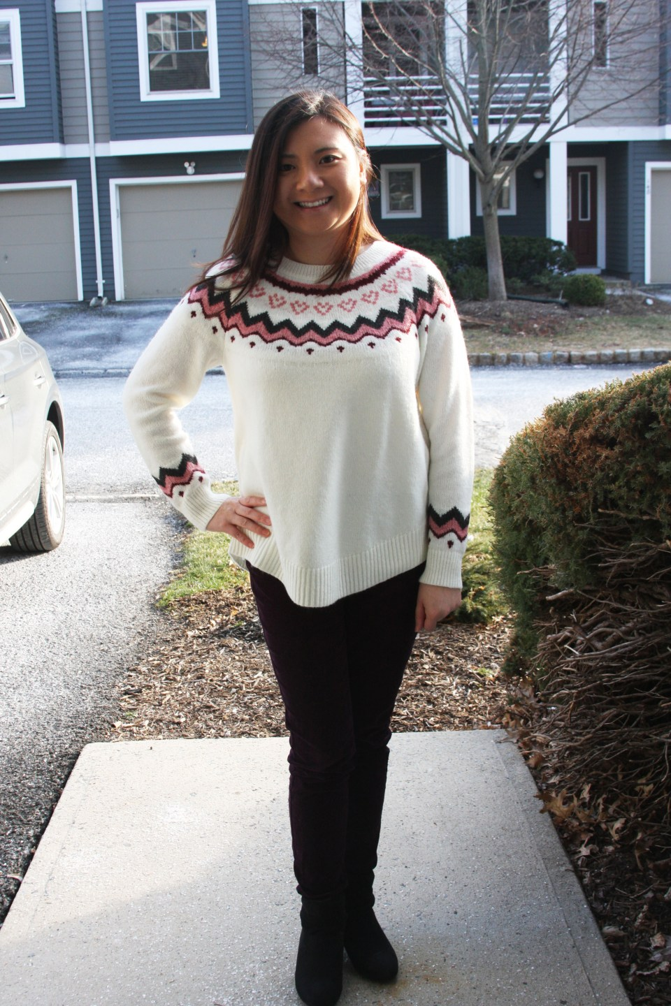 Pink Melange Fairisle Sweater 7