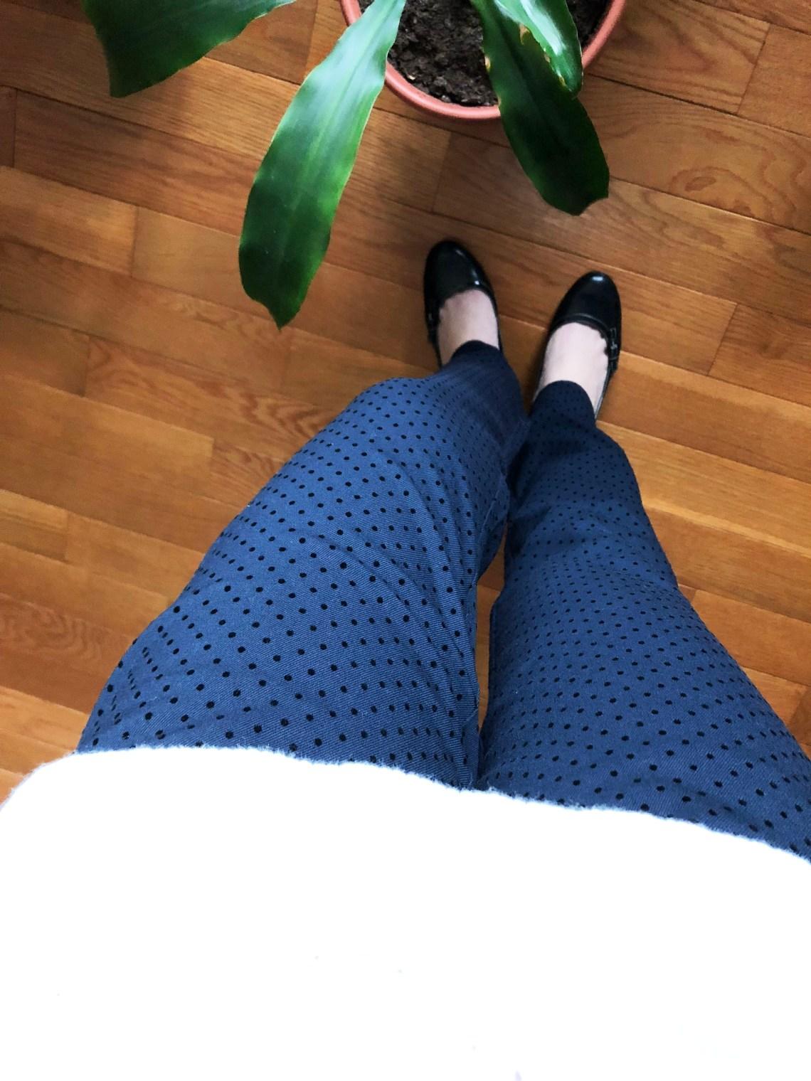 Velvet Polka Dot Pants