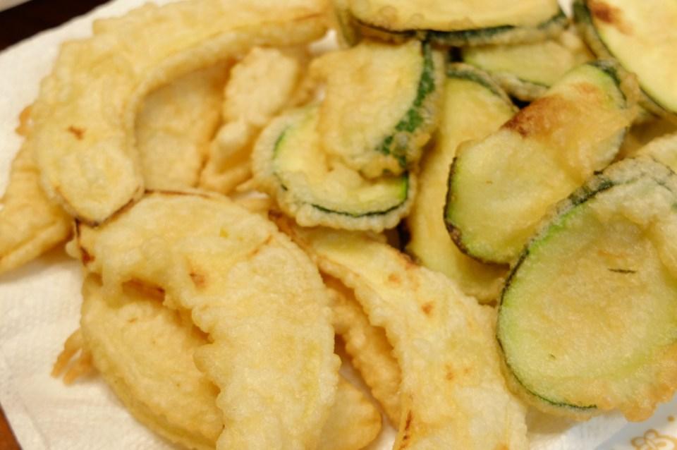 acorn squash + zucchini tempura 1