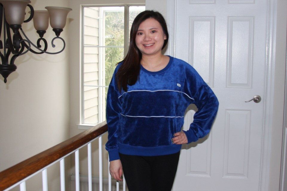 Blue Velour Sweatshirt 1