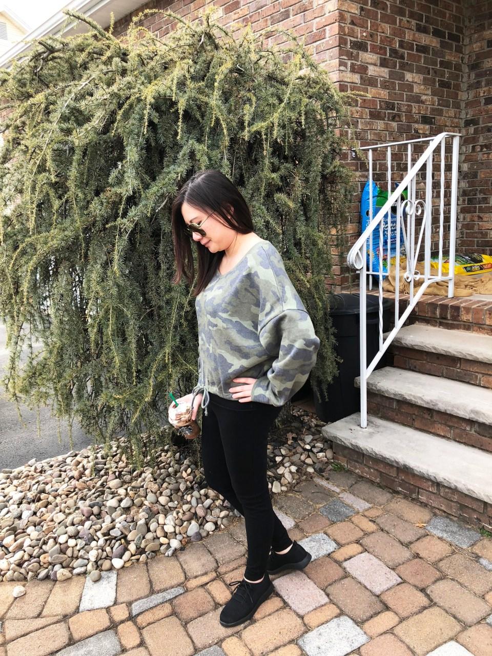 Camo Drawstring Sweatshirt 1