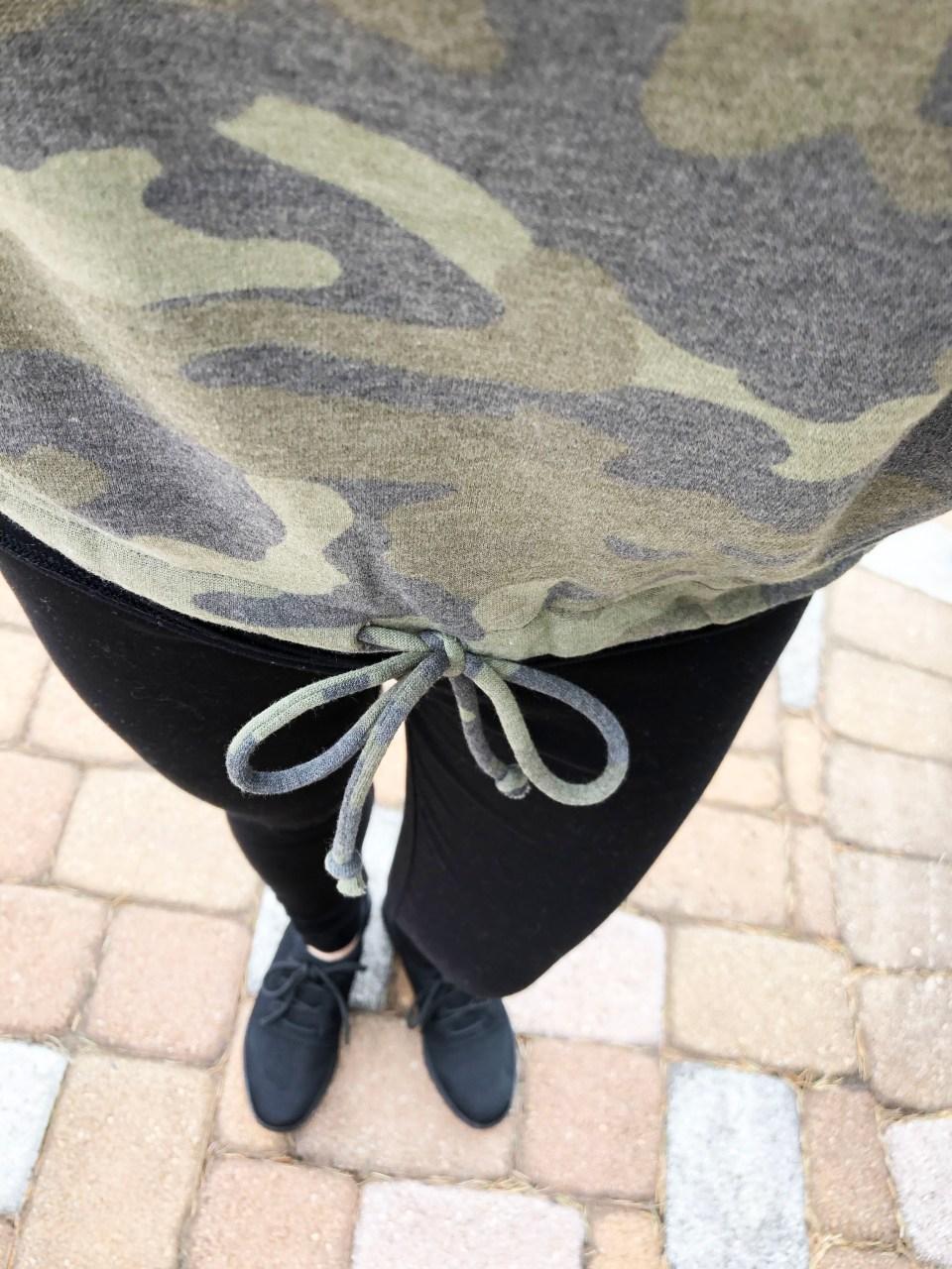 Camo Drawstring Sweatshirt 8