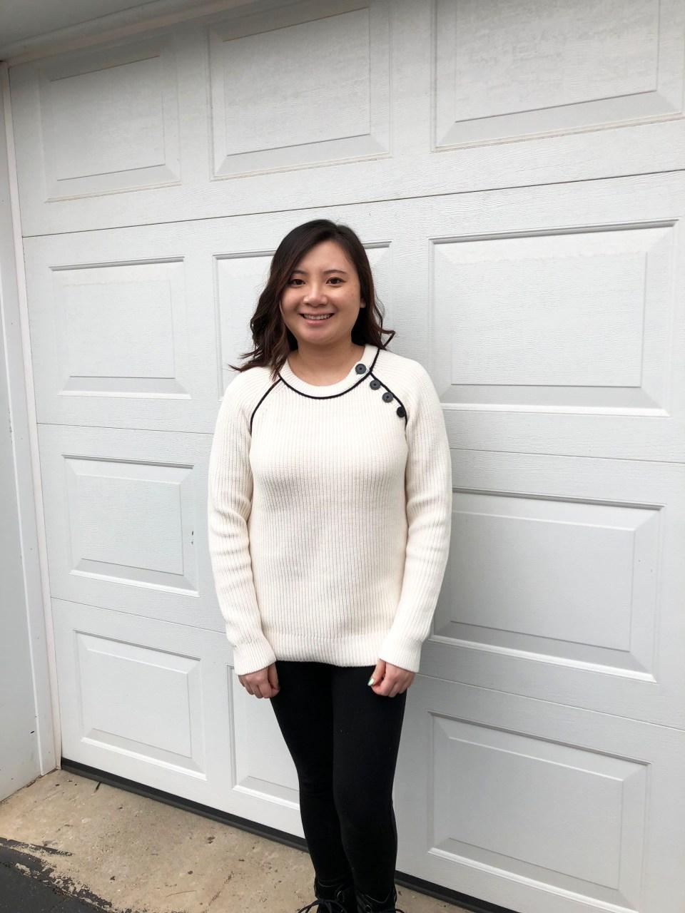 Piped Button Trim Sweater 3