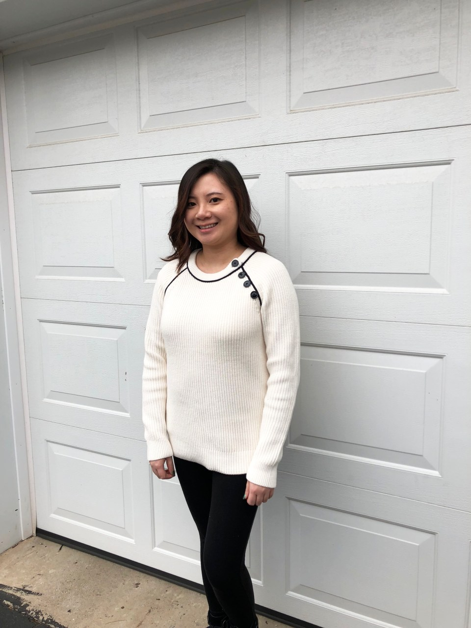 Piped Button Trim Sweater 5