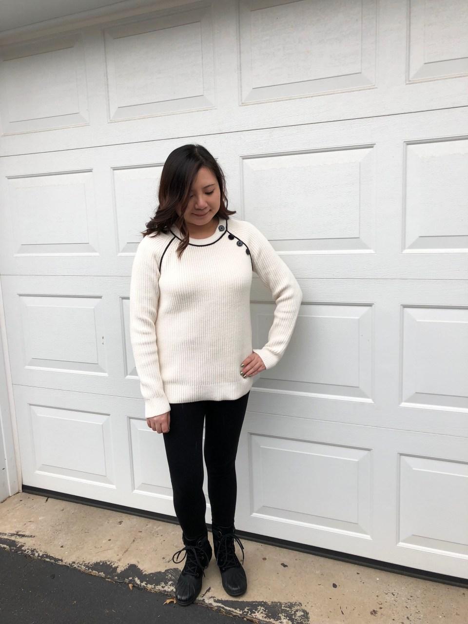 Piped Button Trim Sweater 6
